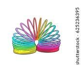 Rainbow Colored Plastic Spring...