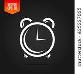 alarm clock vector icon on dark ... | Shutterstock .eps vector #625237025