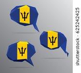 polygon speech bubble flag  ... | Shutterstock .eps vector #625242425