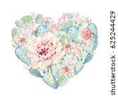 Hand Drawn Watercolor Heart...