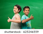 cute indian boy and girl or... | Shutterstock . vector #625246559
