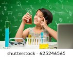 kids and science concept   cute ... | Shutterstock . vector #625246565