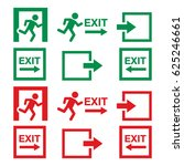emergency exit sign  warning... | Shutterstock .eps vector #625246661