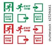emergency exit sign  warning... | Shutterstock .eps vector #625246661