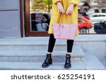 fashionable young woman in... | Shutterstock . vector #625254191