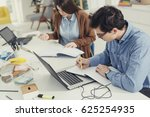 college students studying in... | Shutterstock . vector #625254935