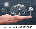 house real estate for rent... | Shutterstock . vector #625256849
