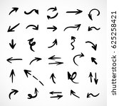 hand drawn arrows  vector set | Shutterstock .eps vector #625258421