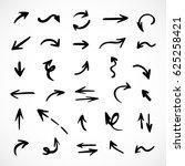 hand drawn arrows  vector set | Shutterstock .eps vector #625258421