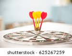 colorful dart on target | Shutterstock . vector #625267259
