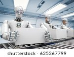 3d rendering robot working with ... | Shutterstock . vector #625267799