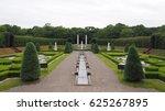 beautiful europe style garden...   Shutterstock . vector #625267895