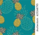 seamless vector pattern. hand... | Shutterstock .eps vector #625268795