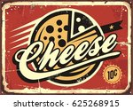 cheese vintage sign vector... | Shutterstock .eps vector #625268915