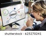business summary message idea... | Shutterstock . vector #625270241