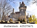ancient castle tower landscape. ... | Shutterstock . vector #625275671