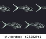 seamless pattern with fish... | Shutterstock .eps vector #625282961