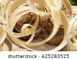 wood shavings on a wood... | Shutterstock . vector #625283525