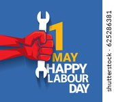 happy labour day vector label... | Shutterstock .eps vector #625286381
