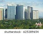 Modern green buildings in Bonifacio Global City, Manila, Philippines