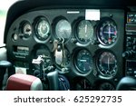 detail of old airplane cockpit. ... | Shutterstock . vector #625292735