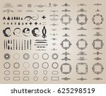 circle and square wicker... | Shutterstock .eps vector #625298519