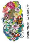 hand drawn monster of buddhism... | Shutterstock .eps vector #625306979