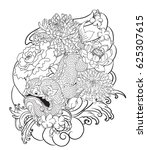 hand drawn monster of buddhism  ... | Shutterstock .eps vector #625307615