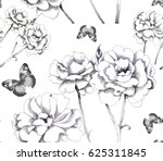 hand drawn graphics roses... | Shutterstock . vector #625311845