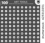 art tools icons for web and... | Shutterstock .eps vector #625313351