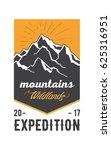 american mountains vintage logo ... | Shutterstock .eps vector #625316951