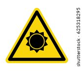 sun danger sign. symbol  vector ...   Shutterstock .eps vector #625318295