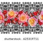 seamless pattern. oriental... | Shutterstock . vector #625319711
