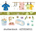 illustration set of the rainy... | Shutterstock .eps vector #625326011