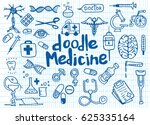health care and medicine doodle ... | Shutterstock .eps vector #625335164