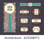 business cards  invitations and ... | Shutterstock .eps vector #625338971