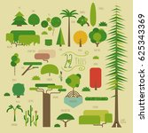 ultimate trees collection of...   Shutterstock .eps vector #625343369