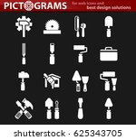 work tools icon set for web... | Shutterstock .eps vector #625343705