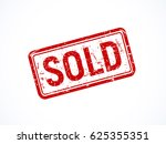red textured rotated sold stamp ...
