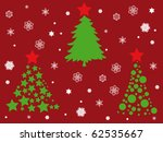 christmas trees and snowflakes... | Shutterstock .eps vector #62535667