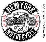 motorcycle label t shirt design ... | Shutterstock .eps vector #625357994