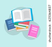 stack of books | Shutterstock .eps vector #625364837