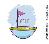 golf flag play game field | Shutterstock .eps vector #625366469