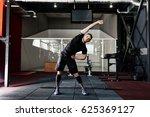 young man preparing muscles... | Shutterstock . vector #625369127