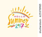 hello summer 2017. bright... | Shutterstock .eps vector #625378985