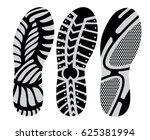 set  footprint sport shoes... | Shutterstock .eps vector #625381994
