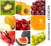 colorful fruit collage | Shutterstock . vector #62538298