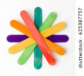 flower shape arranged colorful...   Shutterstock . vector #625387757
