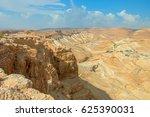 ruins of masada fortress  israel | Shutterstock . vector #625390031