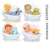 set of clip art illustrations... | Shutterstock . vector #625394921